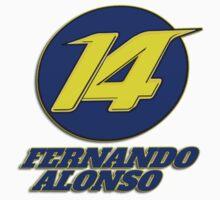 Fernando Alonso #14 (Formula One Race Number) Kids Clothes