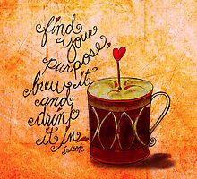 What my #Coffee says to me -  February 23 2013 Pillow by catsinthebag