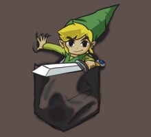 Wind Waker Link in a Pocket Bdark grey by HeartlessArts