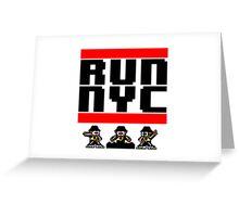 Run New York Greeting Card
