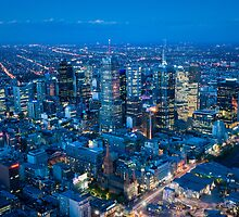 Melbourne Skyline by Mark Eden