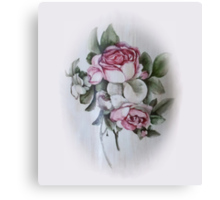 Shabby Chic Vintage Victorian Roses Canvas Print