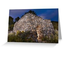 dry stone shelter Greeting Card