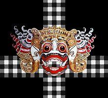 Hanuman etnic mask bali dance by idimages