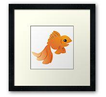Elegant Golden pet goldfish Framed Print