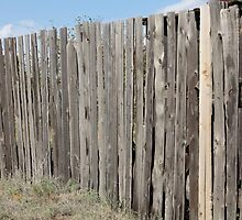 old wooden fence by mrivserg