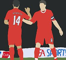 Gerrard and Alonso by JuzaShannon