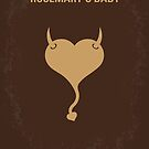 No132 My Rosemarys Baby minimal movie poster by Chungkong