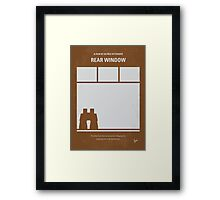 No238 My Rear window minimal movie poster Framed Print