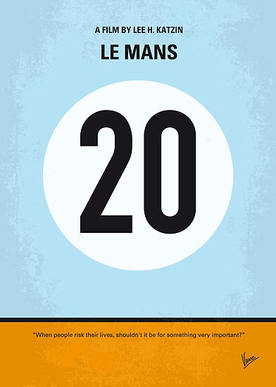 No038 My Le Mans minimal movie poster by Chungkong