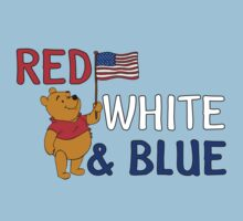 Red white and blue Winnie the Pooh by sweetsisters