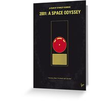No003 My 2001 A space odyssey 2000 minimal movie poster Greeting Card