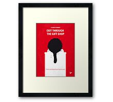 No130 My Exit Through the Gift Shop minimal movie poster Framed Print