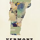 vermont state map  by bri-b