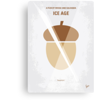 No041 My Ice Age minimal movie poster Canvas Print