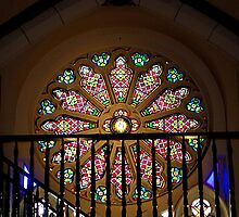 Loretto Chapel Rose Window  by Robert Meyers-Lussier