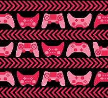 Love for Gaming - Pink by Amanda Rekdal