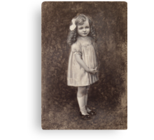 The Girl With a Bow Canvas Print