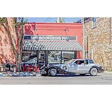 The Bourgeois Pig and an Excalibur Automobile, Lawrence KS  Photographic Print
