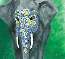 Painted Elephant - Masked by KoreanRussell