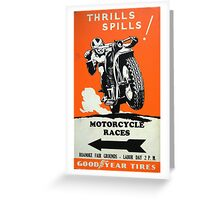 Motorcycle Races Greeting Card