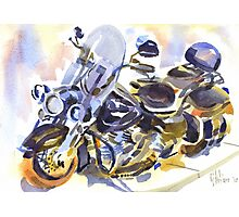 Harley in Watercolor Photographic Print