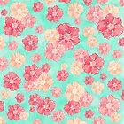 Blossoms (Aqua) by Lisa Argyropoulos