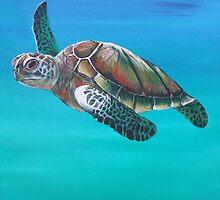 Sea Turtle Down Under by BluGeckos