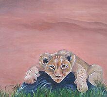 Lazy Lion Cub by BluGeckos