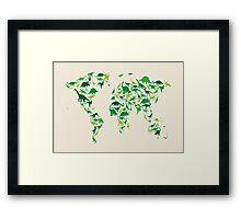 Dinosaur Map of the World Map Framed Print