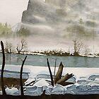 'Yosemite: Rivermist' - Watercolours. by Gee Massam