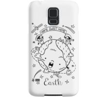 Planet Earth and the Empire Penguins Samsung Galaxy Case/Skin