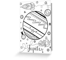 Jupiter and the Outer Space Jellyfish Greeting Card