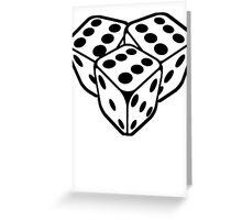 666 dice Greeting Card