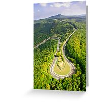 Aerial shot #3 of the Nürburgring Nordschleife Caracciola Karussell Greeting Card