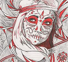 Day of the Dead in Red by Flozenmotion