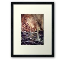 'The Sinking of the Gneisenau' Framed Print