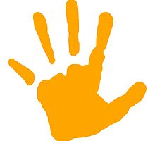 Orange Handprint by kwg2200