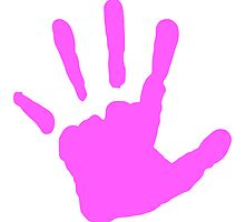 Pink Handprint by kwg2200