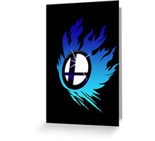 Smash Bros Emblem Blue Greeting Card