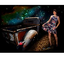 Rat Rod Saturday Night Dance Queen Photographic Print