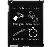 Ianto's box of tricks (white) iPad Case/Skin