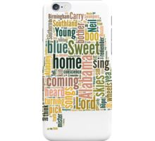 Sweet Home Alabama Map Typography iPhone Case/Skin