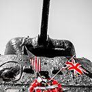 Slapton Sands Memorial Sherman by Chris L Smith