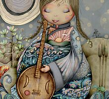 Moon Guitar by Karin Taylor by © Karin  Taylor