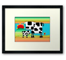 Moo Cow Sunrise Family Framed Print