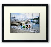 The sailboat has disappeared!  Framed Print