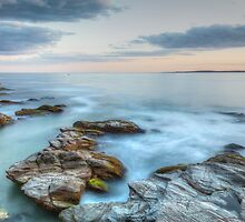 Rocky Sunset Seascape by Joshua McDonough