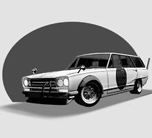 Shakotan Wagon (Black and White) by Blake Dove