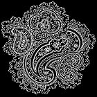 Black and White Paisley by Greenbaby